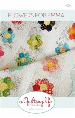 Flowers For Emma Quilt Pattern by A Quilting Life