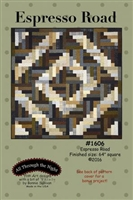 Espresso Road Log Cabin Variation Quilt Pattern by Bonnie Sullivan
