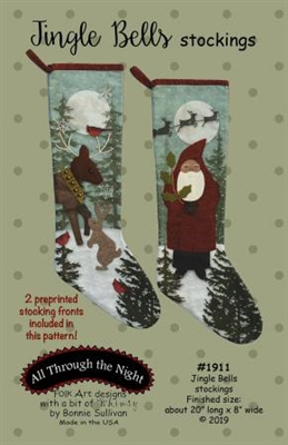 Jingle Bells Stockings Pattern by Bonnie Sullivan
