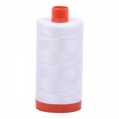 Aurifil Thread: Mako Cotton Thread Solid White