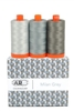 Aurifil Mako Cotton Thread 50wt Milan Grey 3 pack