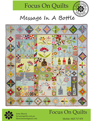 Message In A Bottle Applique Quilt Pattern by Irene Blanck