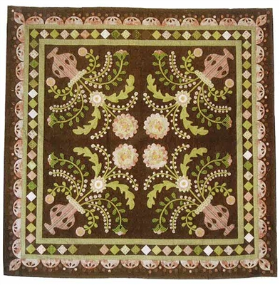 Chocolate Mint Sundae Applique Quilt Pattern
