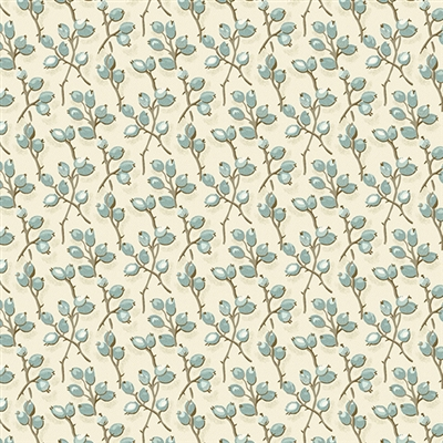 Bluebird: Buds in Ivory Solstice by Laundry Basket Quilt