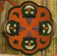 Spooky Cat Candle Mat Pattern