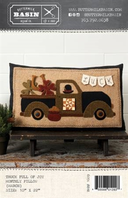 Truck Full of Joy Monthly Pillow Pattern- MARCH