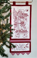 Night Before Christmas Redwork Stitchery Pattern