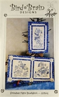 Snowball Fight bluework machine Embroidery from Bird Brain Designs