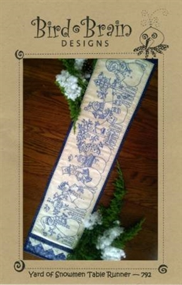Yard of Snowmen Table Runner pattern