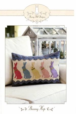 Bunny Hop Quilt Pillow Pattern by Bunny Hill