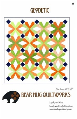 Geodectic Quilt Pattern from Bear Hugs Quiltworks