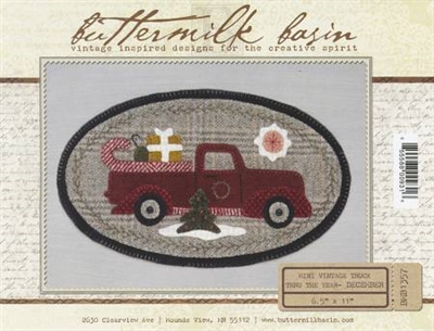 Mini Vintage Truck Thru The Year Quilt Pattern -December