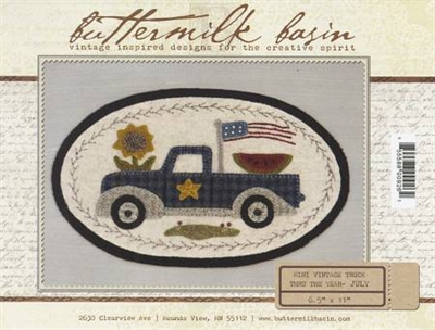 Mini Vintage Truck Thru The Year Quilt Pattern - July
