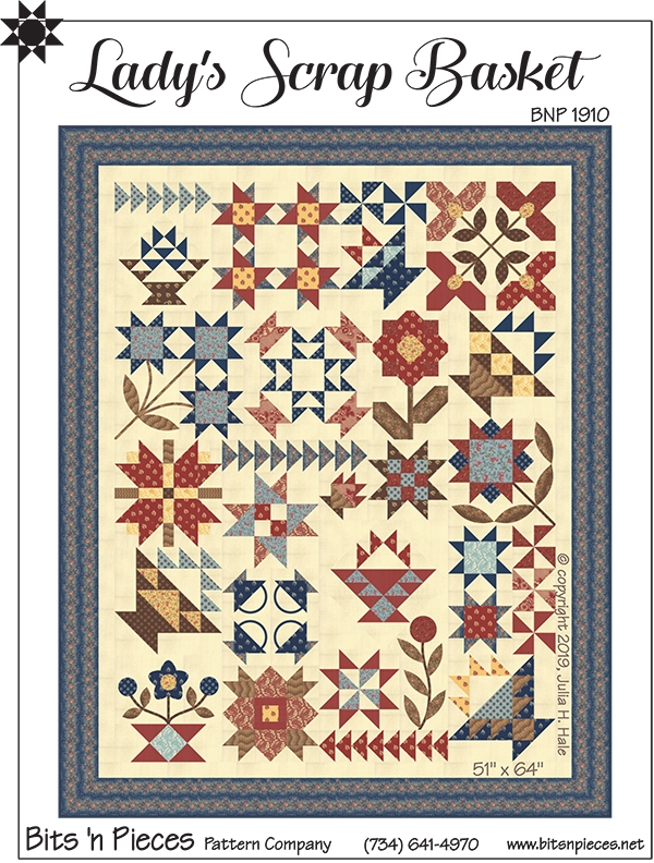 Creative Scrap Quilting sewing pattern /&templates Log Cabin in the Garden Quilt