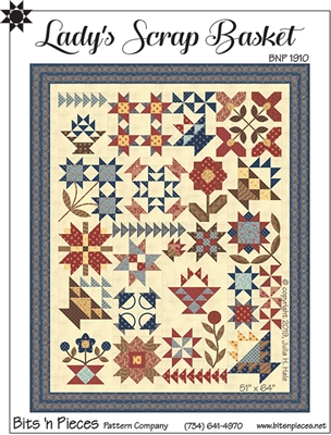 Lady's Scrap Basket Quilt Pattern