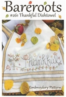 THANKFUL Dish Towel Embroidery Pattern from Bareroots