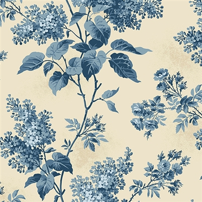 Blue Sky A-8505-L Lilacs in Beach House Cream
