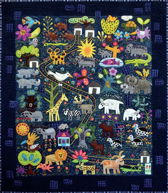 Folk Tails By Sue Spargo Embroidered Quilt Pattern Book