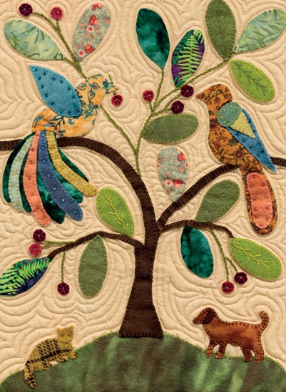 My Enchanted Garden By Gretchen Gibbons Applique Quilts In