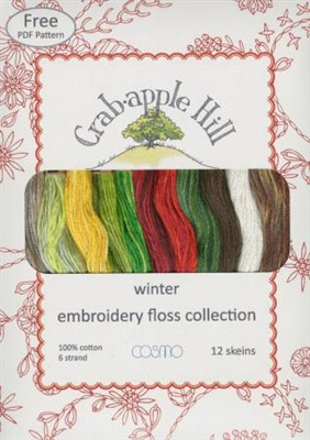 Lecien Crabapple Hill Winter 12 Skein Floss Collection