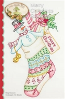 Merry Christmas Stocking Embroidery Pattern from Crabapple Hill Studios