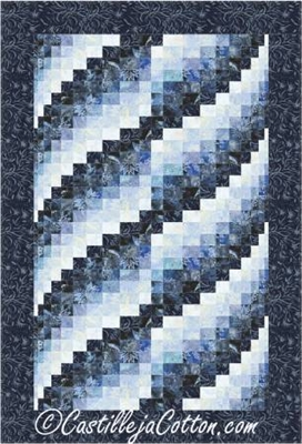 Lapping Waves Bargello Quilt Pattern