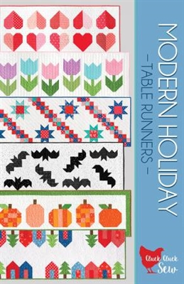 Modern Holiday Table Runner Patterns by Cluck Cluck Sew