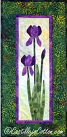Iris Applique Quilt Pattern