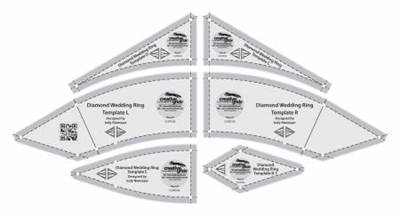 Creative Grids Diamond Wedding Ring 6pcs # CGRDIA