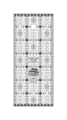 Creative Grids Itty-Bitty Eights Rectangle Ruler 3in x 7in # CGRPRG1