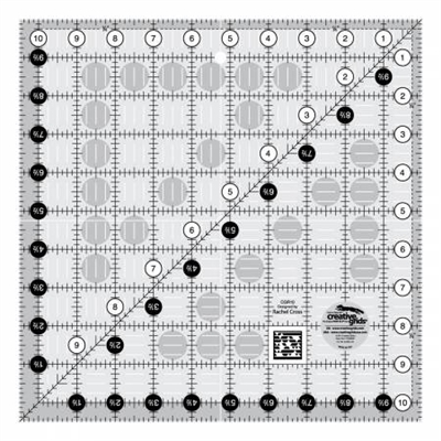 Creative Grids Quilt Ruler 10-1/2in Square # CGR10