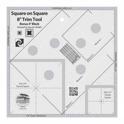 Creative Grids Square on Square 8in Trim Tool # CGRJAW8