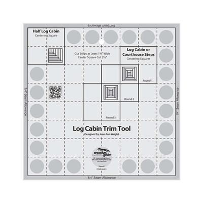 Creative Grids Log Cabin Trim Tool for 8in x 8in Finished Blocks # CGRJAW1