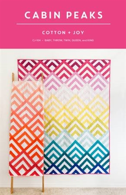 Cabin Peaks Quilt Pattern from Cotton & Joy