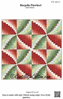 Bargello Pinwheel Quilt or Table Topper Pattern