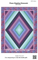 Plume Rippling Diamonds Quilt Pattern