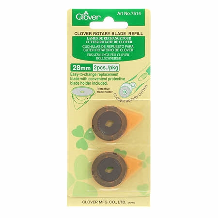 CLOVER 28mm Replacement Blade 2 Ct