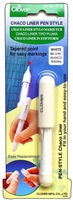 Clover Chaco Liner Pen Style Refillable White Marking Tool