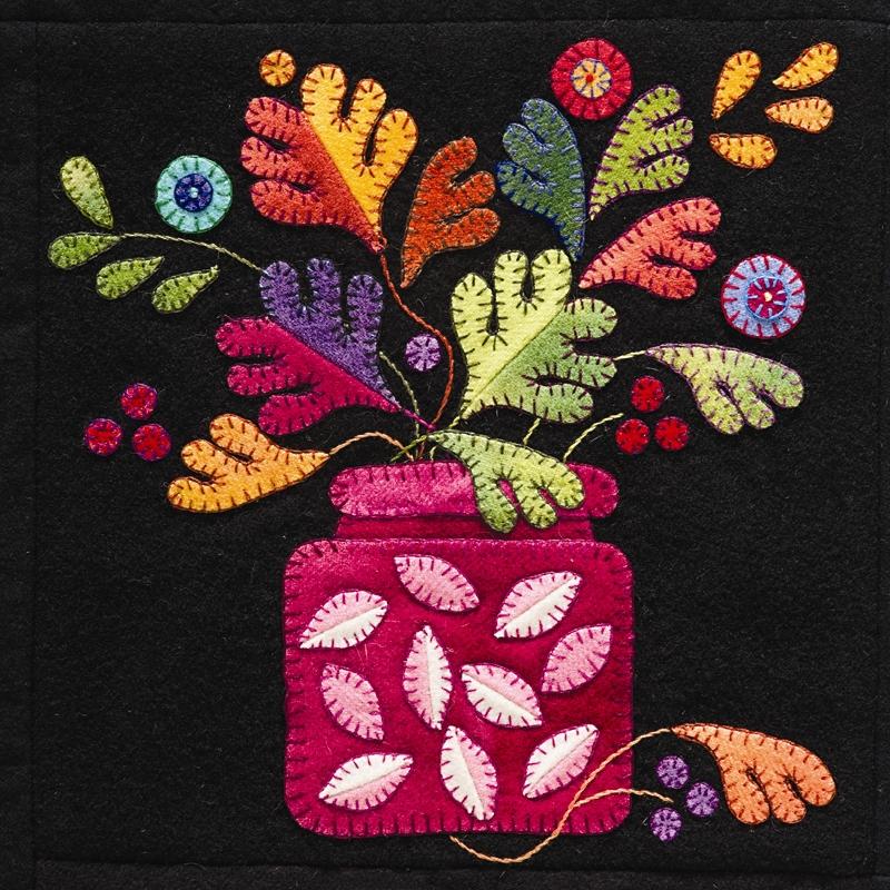 Summertime sampler wool applique quilt pattern