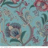 Charlotte Jacobean Chintz Teal by MIchelle Yeo