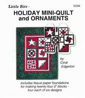 Little Bits Holiday Mini-Quilt and Ornaments  Paper Piecing Pattern