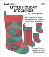 Little Bits Little Holiday Stocking Paper Piecing Pattern