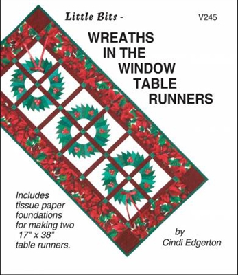 Little Bits  Wreaths in the Window Paper Piecing Pattern