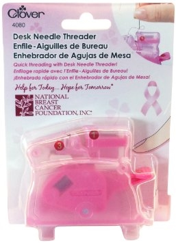 Clover Desktop Needle Threader Pink