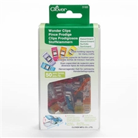 Clover Wonder Clips Assorted Colors (Pack of 50)