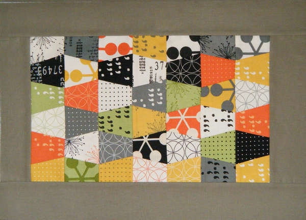 Tumbler Quilt Placemat Pattern For Pre Cuts Of Scraps