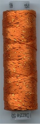 Dazzle 50 Yard Mini Spool of Sue Spargo's Dazzle Thread Golden Poppy