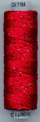 Dazzle 50 Yard Mini Spool of Sue Spargo's Dazzle Thread Mars Red