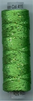 Dazzle 50 Yard Mini Spool of Sue Spargo's Dazzle Thread  CLASSIC GREEN