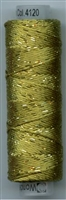 Dazzle 50 Yard Mini Spool of Sue Spargo's Dazzle Thread  GOLDEN OLIVER